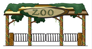 Zoo entrance Royalty Free Stock Photo