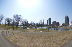 zoo för park för boardwalklincoln natur Royaltyfri Bild