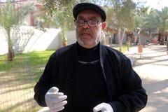 Zoo i Rafah ger besökare en möjlighet att spela med djur i Gazaremsan arkivfoto