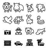 Zoo icon Stock Images