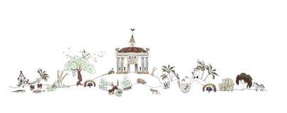 Zoo, illustration de parc de Safary, collection de ville Image stock