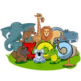 Zoo. Illustrations of various kinds of animals in zoo vector illustration