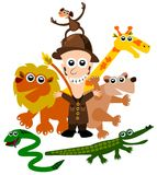 Zoo keeper Stock Images