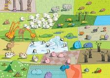 ZOO krajobrazy ilustracji