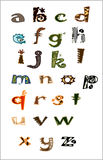 Zoo letters Stock Images