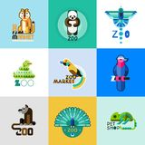 Zoo Logo Set Stock Image