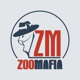Zoo mafia cat. Isolated on white background Stock Photo