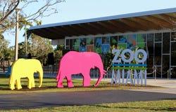 Zoo-Miami-Zeichen lizenzfreie stockbilder