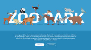 Zoo Park Banner. Website Template Royalty Free Stock Photos