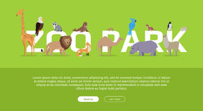 Zoo Park Banner. Website Template Royalty Free Stock Photo