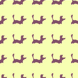 Zoo  pattern for designed print. Dog zoo pattern. Illustration for zoo design Stock Images