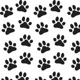 Zoo  pattern for designed print. Paw zoo pattern. Illustration for zoo design Royalty Free Stock Images