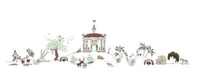 Zoo, Safary park illustration, City collection Stock Image