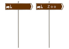 Zoo sign Stock Images