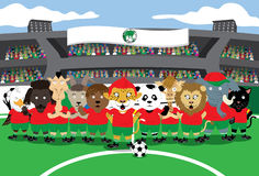 Zoo Soccer Royalty Free Stock Images