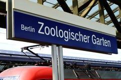 Zoo Station Train Sign. Zoologischer Garten Train Sign Berlin Germany Stock Images