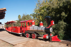 Zoo Steam Engine Train Royalty Free Stock Photos