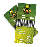 Zoo tickets Royalty Free Stock Photos