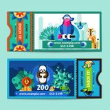 Zoo Tickets Set Royalty Free Stock Photography