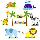 The Zoo. Vector illustration of cute animal set animals for zoo Stock Images