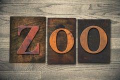 Zoo Wooden Letterpress Theme Stock Photos