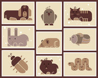 Zoodjursymboler Arkivbild