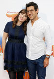 Zooey Deschanel et Jacob Pechenik Image stock