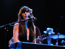 Zooey Deschanel performs with her band She & Him Stock Photos