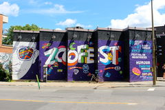 Zoofest. Publicity for Zoofest Festival, a show with many various artists in Quarter show, Montreal royalty free stock photography