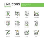 Zoogdieren - geplaatste de pictogrammen van het lijnontwerp stock illustratie