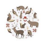 Zoogdieren vectorinzameling royalty-vrije illustratie