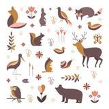 Zoogdieren vectorinzameling vector illustratie