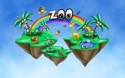 Zooillustration i himlen Arkivbild