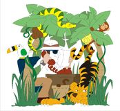 Zookeeper illustration Stock Photography