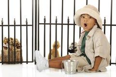 Zookeeper que ruje Fotografia de Stock Royalty Free