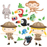 Zookeeper Vector Set Stock Photo