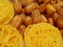 Zoolbia bamieh Ramadan special cooky In Iran. Traditional Iranian Fried cooky very sweet and usually uses in Ramadan month after fasting time made from Fried Stock Images
