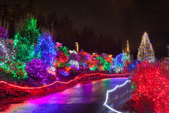 Zoolights at the Point Defiance Zoo in Tacoma, WA. Shington stock photography
