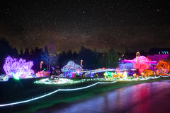 Zoolights at the Point Defiance Zoo in Tacoma, WA. Shington stock image