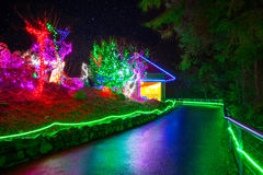 Zoolights at the Point Defiance Zoo in Tacoma, WA. Shington royalty free stock photos