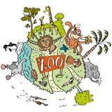 Zoologischer Garten mit Tier von allen Welten stock abbildung