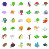 Zoology icons set, isometric style Stock Images