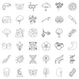 Zoology icons set, outline style Stock Images