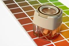 Zoom au-dessus de guide de couleur Images libres de droits