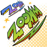 Zoom Bolt Sound Text Stock Photography