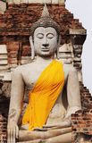 Buddha statue in the old sanctuary. Zoom in for Buddha statue in the old sanctuary.With a smiling face , calm calm Royalty Free Stock Photography