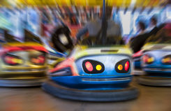 Zoom on bumper car Royalty Free Stock Photo