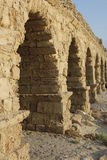 Zoom in the Caesarea Maritima Aqueduct Royalty Free Stock Photos