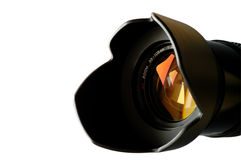 Zoom camera lens closeup Stock Photo
