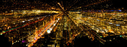 Zoom City Lights Stock Images